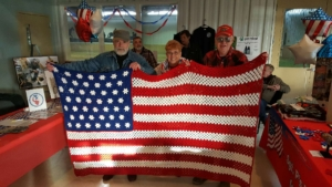 Flag Afghan Raffle Results, Donations, Craft Show, and BraveHearts